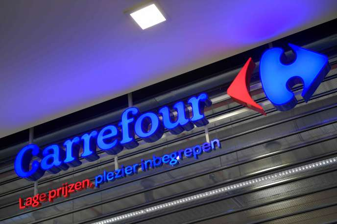 L'hypermarché Carrefour de Gand, en Belgique, pays concerné par le plan detransformation du groupe