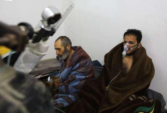 Après l'attaque sur la ville de Saraqeb, dans la province d'Idlib, le 4 février.