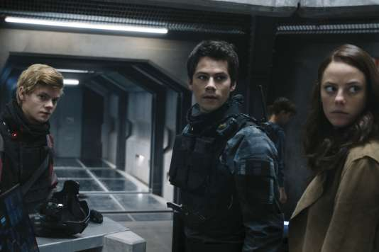 Thomas Brodie-Sangster,Dylan O'Brien etKaya Scodelario dans le film américain de Wes Ball,«Le Labyrinthe: Le Remède mortel» («Maze Runner: The Death Cure»).