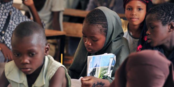 Dans une école primaire de Zinder, au Niger, en 2012.