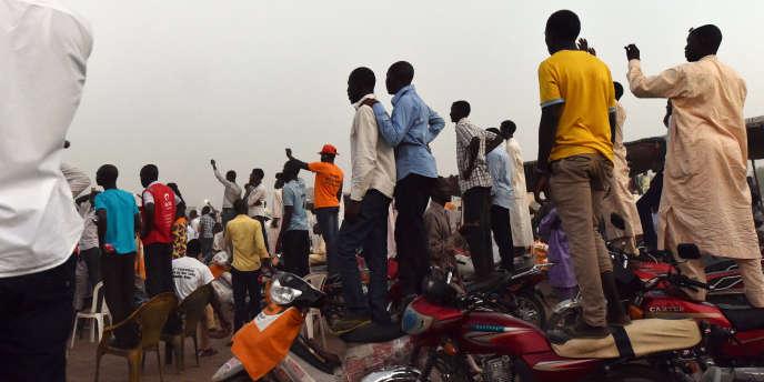 Lors d'un rassemblement d'opposants à N'Djamena, au Tchad, en 2016.