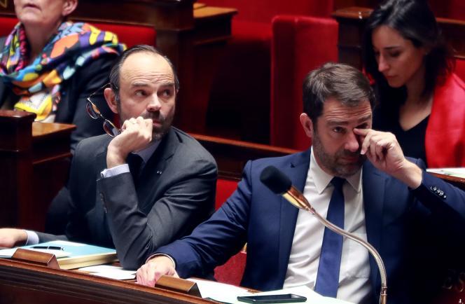 Edouard Philippe et Christophe Castaner, mardi 6 février, à l'Assemblée nationale.