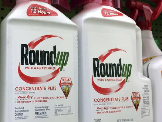 Le Roundup, commercialisé par Monsanto, est un herbicide contenant du glyphosate.