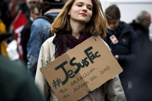 Manifestation contre la réforme des universités mardi 6 février à Lyon.