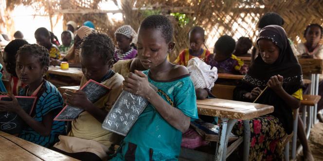 Classe de CP1 du village de Békouré, au Burkina Faso.
