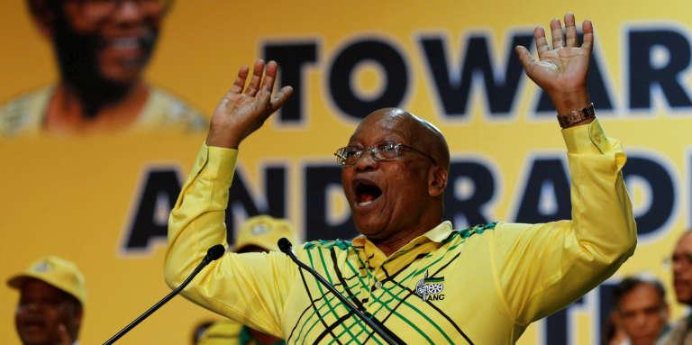 Le président sud-africain, Jacob Zuma, lors de la conférence nationale de l'ANC, le 16décembre 2017, à Johannesburg.