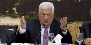 Le président de l'Autorité palestinienne, Mahmoud Abbas, à Ramallah le 14 janvier.