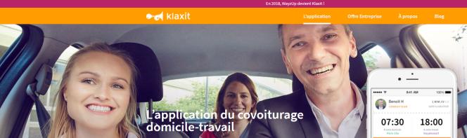 Capture d'écran du site de Klaxit (ex-WayzUp)