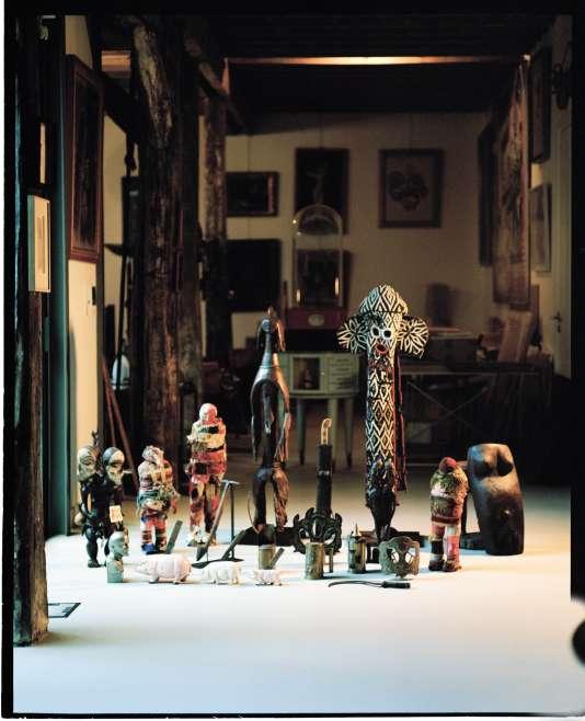 Dans la maison de l'artiste collectionneur Jean-Jacques Lebel, le2février, à Paris.