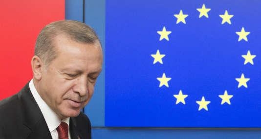 Le président turc, Recep Tayyip Erdogan, à Bruxelles, le 25 mai 2017.