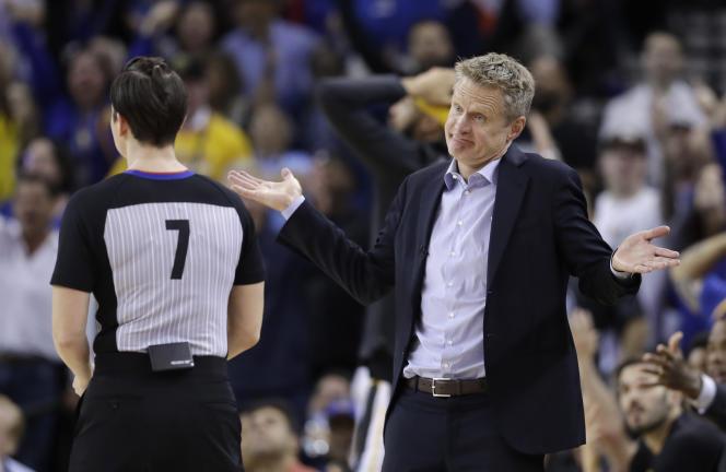 L'entraîneur des Golden State Warriors, Steve Kerr, le 6 février 2018.
