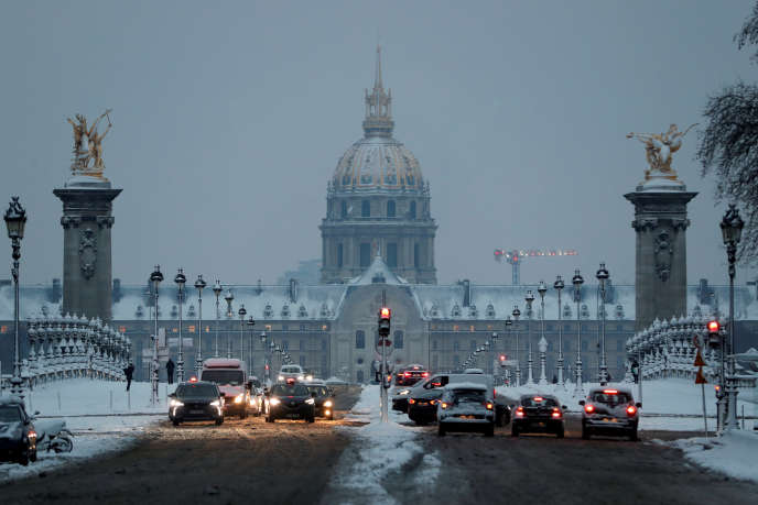 Le trafic ralenti en Ile-de-France, ici à Paris, le 7 février 2018.