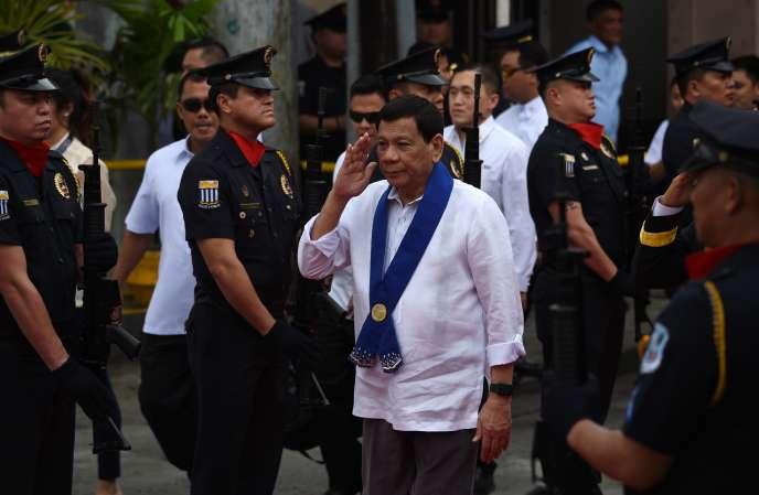 Rodrigo Duterte, le président desPhilippines, à Manille, le 6 février 2018.