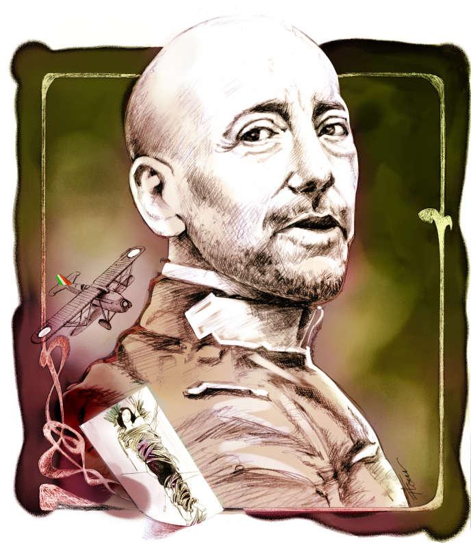 L'écrivain italienGabriele D'Annunzio.