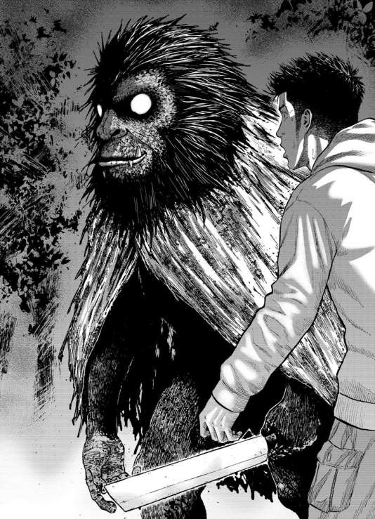 """Planche de """"Monkey Peak"""" de Koji Shinasaka et Akihiro Kumeta / Editions Komikku"""