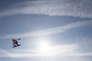 Le snowboardeur canadien Max Parrot pendant un entraînement de slopestyle, àPyeongchang, le 7 février.