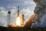Lancement de la fusée Falcon Heavy, le 6 février 2018.