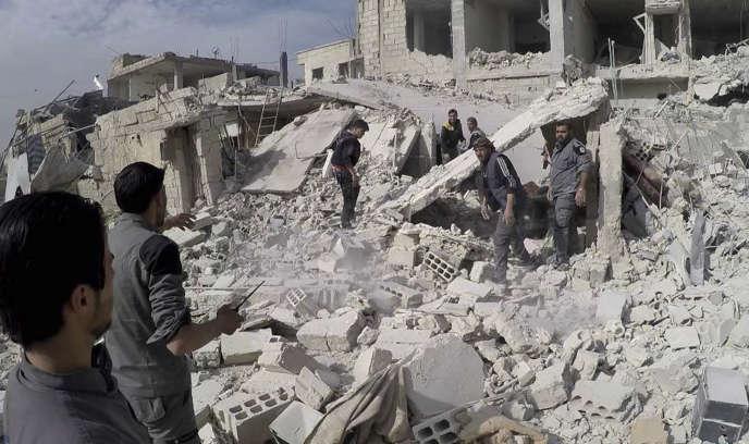 Les bombardements sont intenses depuis quatres jours sur le quartier de la Goutha.