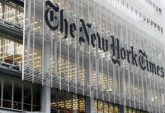 Devanture du siègedu« New York Times», à New York.