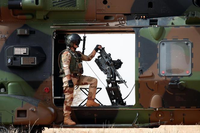 Soldat français de l'opération Barkhane à Inaloglog (Mali), le 17 octobre 2017.