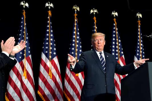 Le président américain, Donald Trump, à Washington, le 8 février.