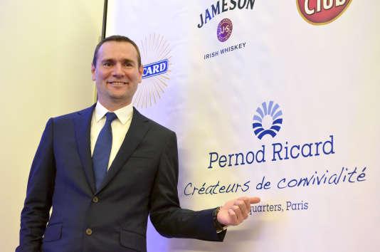 Le PDG de Pernod Ricard, Alexandre Ricard, le 11 février 2016 à Paris.