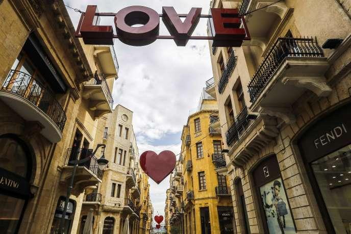 A Beyrouth, le 8 février, alors que la capitale libanaise se prépare à célébrer la Saint-Valentin.
