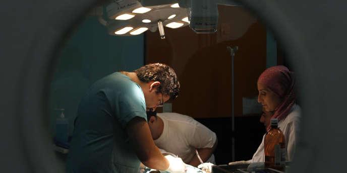 Dans un hôpital d'Alger, en 2012.