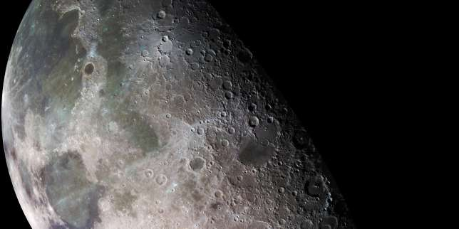 La Lune, photographiée depuis la sonde Galiléo, en décembre 1992.