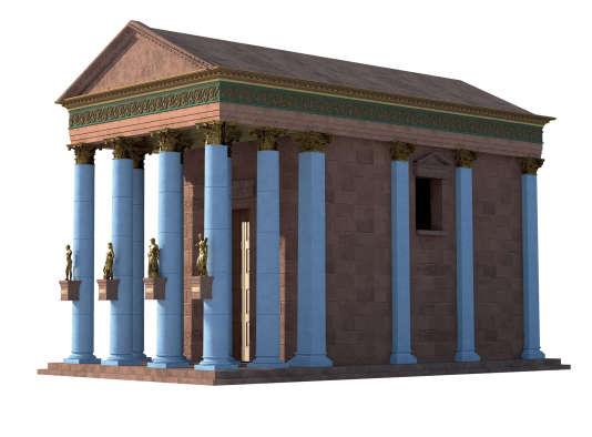Reconstitution 3D du temple de Baalshamin.