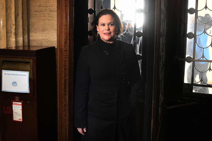 Mary Lou McDonald, à Belfast, le 24 janvier 2018.