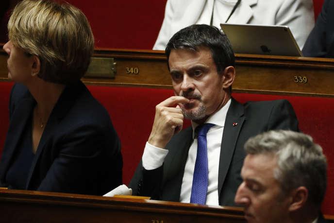 L'ancien premier ministre Manuel Valls, le 17 octobre 2017 à l'Assemblée nationale.