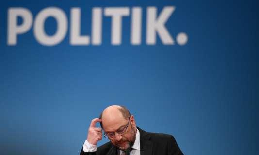 Martin Schulz, le 21 janvier 2018.