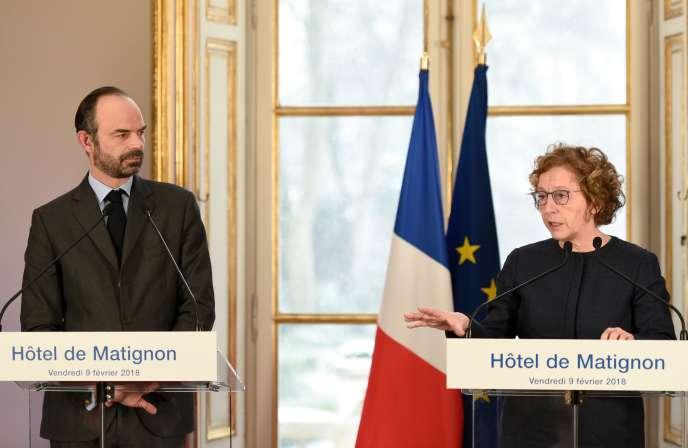 Edouard Philippe et Muriel Pénicaud, à Paris, le 9 février.