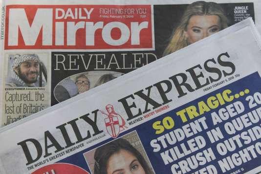 En décembre 2017, le «Daily Mirror» affichait un tirage quotidien de580000exemplaires, un chiffre en recul de18,84% par rapport à décembre2016, tandis que le «Daily Express»enregistrait un recul de 6,82 %, à 364000exemplaires.