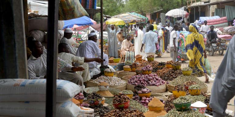 Un marché à N'Djamena, au Tchad, en 2016.