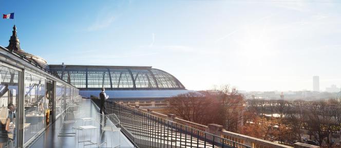 Une image de synthèse du Grand Palais à Paris après sa rénovation.