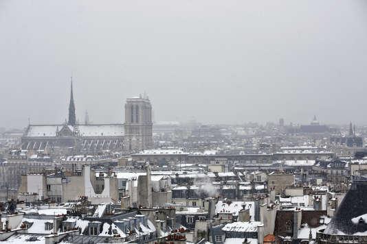 Vue de la cathédrale de Notre-Dame de Paris.
