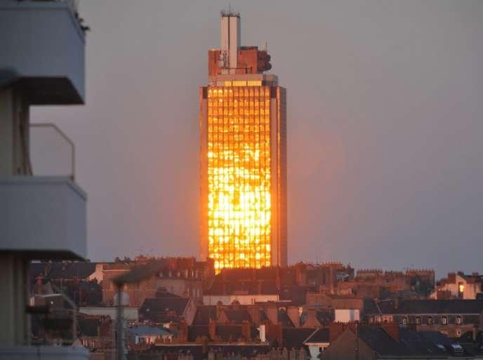 La tour Bretagne de Nantes, le 19 décembre 2009.