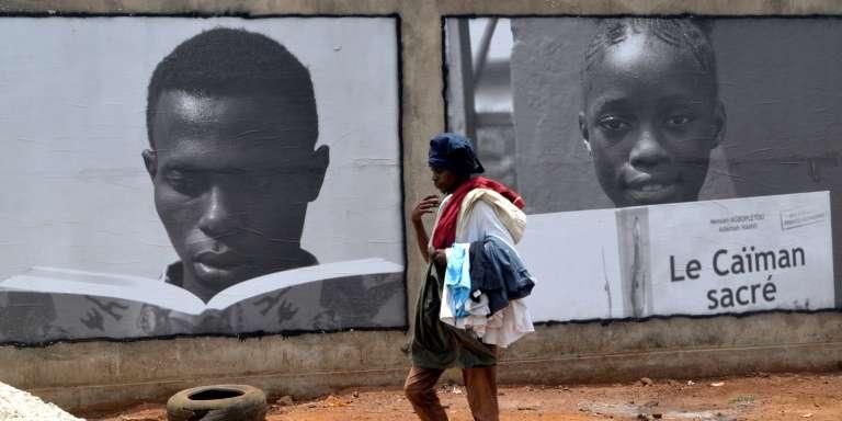 A Conakry, en Guinée, le 23avril 2017. Cette année-là, la ville a été désignée capitale mondiale du livre par l'Unesco.