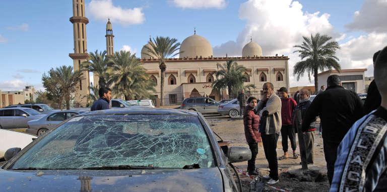 Benghazi, en Libye, le 24janvier 2018,au lendemain d'un double attentat qui a fait près de 40morts.