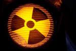 Un logo évoquant la radioactivité.
