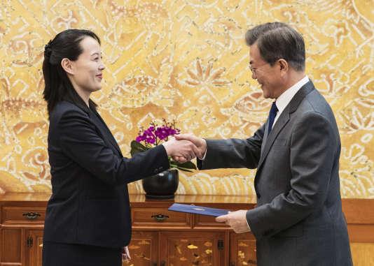 La soeur de Kim Jong-un a transmis le 10 février 2018, à l'occasion des JO d'hiver, auprésident sud-coréen, Moon Jae-in, une invitation à se rendre en Corée du Nord.