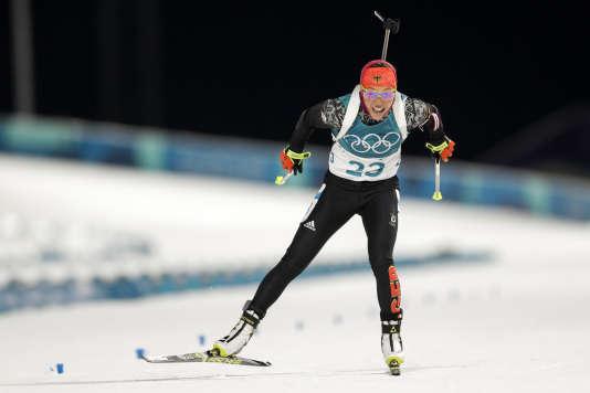Laura Dahlmeier, le 10 février à Pyeongchang.