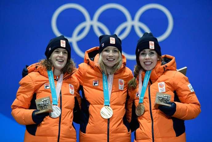 Les Néerlandaises ont réalisé le triplé sur le 3000 mètres, aux Jeux olympiques de Pyeongchang.