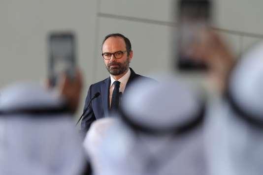 Edouard Philippe lors de son discours auLouvre d'Abou Dhabi, le 10 février.