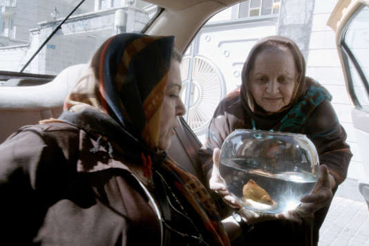Une scène du film iraniende et avec Jafar Panahi, « Taxi Téhéran».