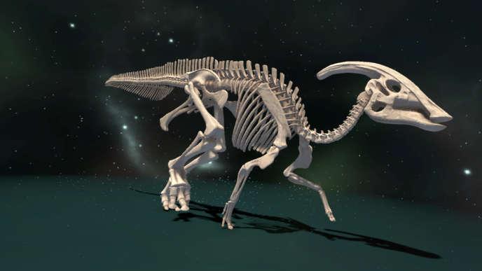 «Voyage au cœur de l'évolution», une expérience en réalité virtuelle au Muséum d'histoire naturelle, à Paris.