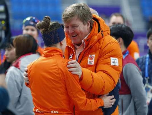 La carotte et le baron. Le roi des Pays-Bas est bien présent en Corée du Sud pour soutenir ses troupes.