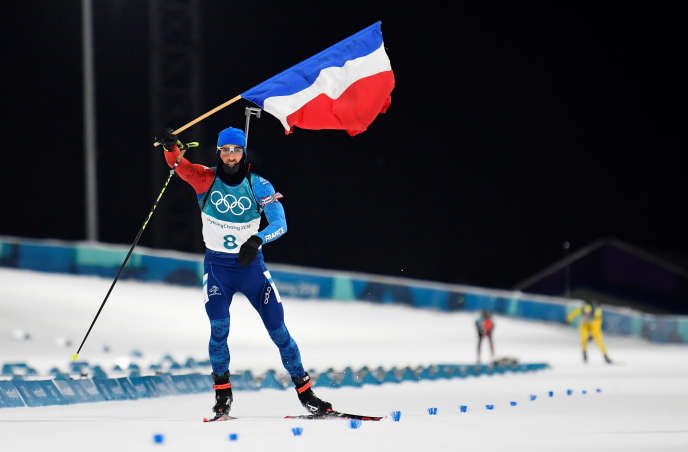 Biathlon ? Pyeongchang 2018 Winter Olympics ? Men?s 12,5 km Pursuit Final ? Alpensia Biathlon Centre - Pyeongchang, South Korea ? February 12, 2018 - Martin Fourcade of France finishes. REUTERS/Toby Melville TPX IMAGES OF THE DAY SEARCH